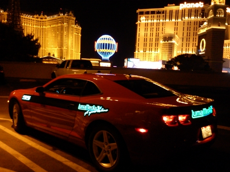 Electroluminescent panel in Las Vegas for a camaro