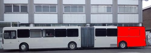 Quarter wrap side bus