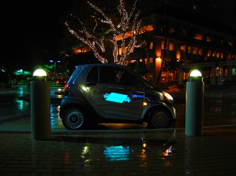 smart car chrom electroluminescent wrap firstclass autosports